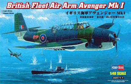 Hobby Boss 80330 1/48 British Fleet Air Arm Avenger Mk 1 plastic model kit(China (Mainland))
