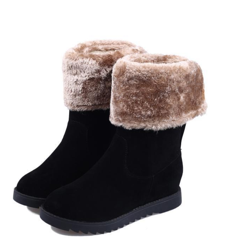 In tube, Ms. snow boots, flat boots thick warm winter shoes, women winter boots. Cotton boots(China (Mainland))