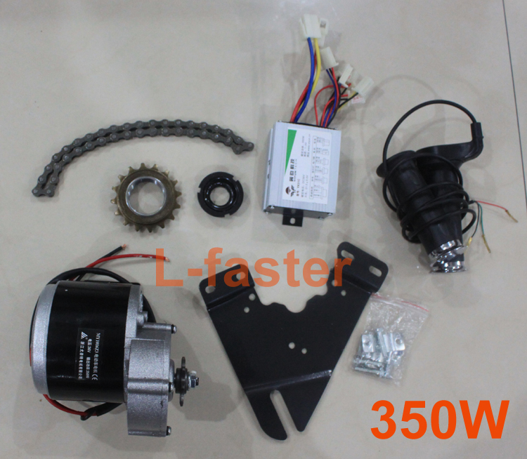 (TO RUSSIA ONLY) 24V36V 350W ELECTRIC MOTOR KIT ELECTRIC BICYCLE SCOOTER ENGINE HIGH SPEED MOTOR DIY ELECTRIC VEHICLE CONVERSION(China (Mainland))