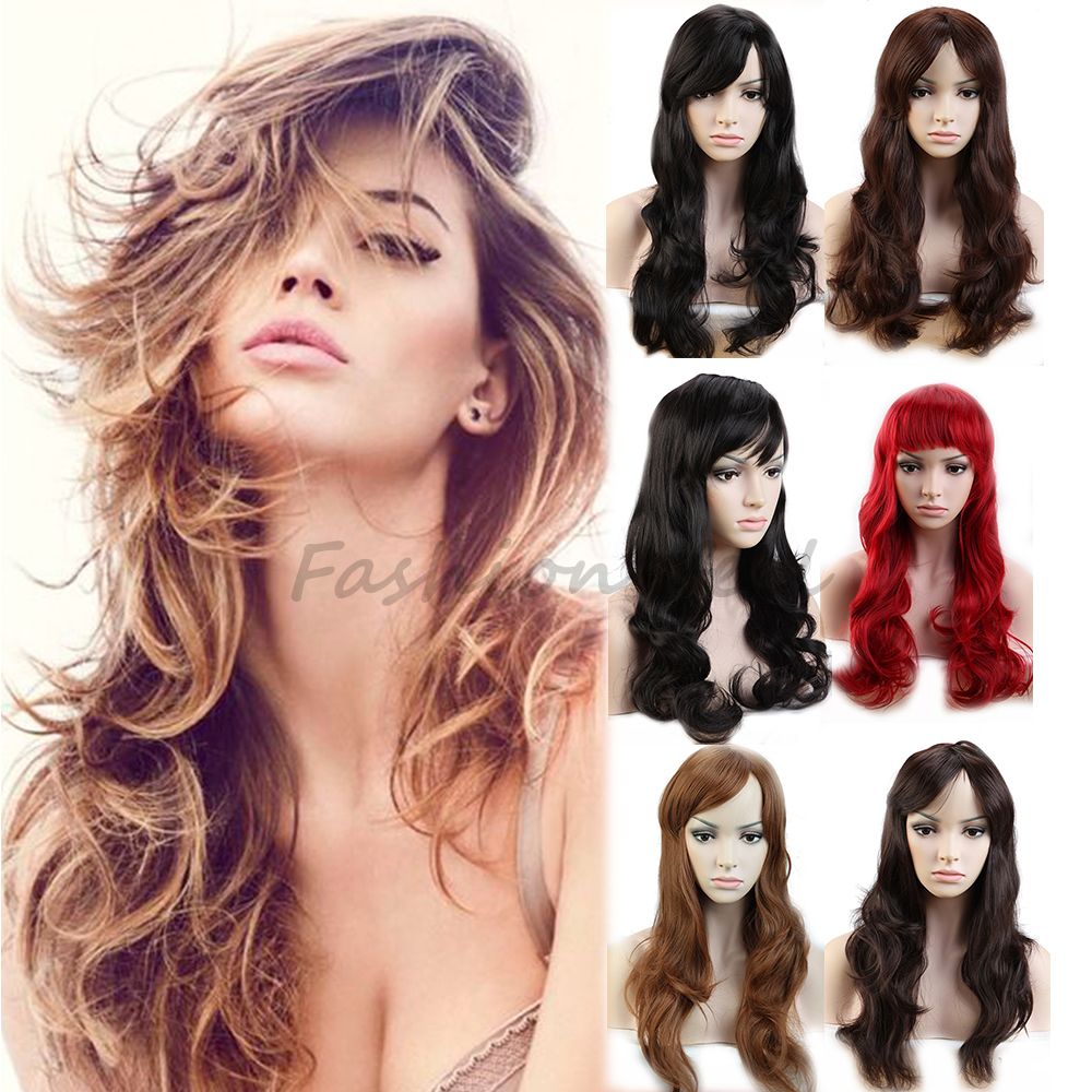 High Quality Anime Long Hair Wigs Natural Curly Wavy Synthetic Full Head Wig Newest Women's Cosplay Costume Party Fancy Dress(China (Mainland))