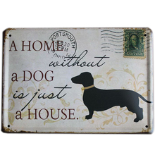 Buy Mike86 HOME WITHOUT DOG Retro stamps Tin Signs Wall Art decor Bar Vintage Metal Craft ainting K-94 Mix Item 15*21 CM for $4.40 in AliExpress store