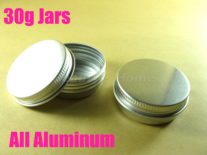 30g Aluminum jars cosmetic cream make jar refillable bottle Empty #1948  -  Packing Supplier(Bottles and Jars store)