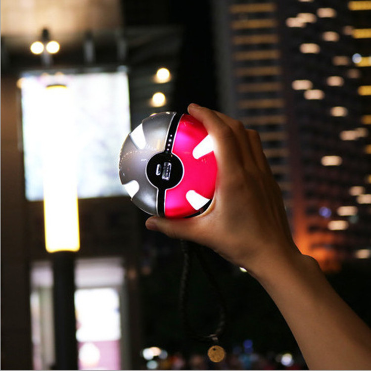 Cool! Pokeball Power Bank Charger 6000mah Custom Christom Gift Pokeball Go Games Powerbank Mobile Poke ball Plush Toy Power Bank