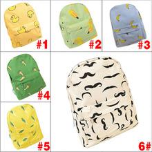 Fashion Fresh Style Canvas Banana Women Backpack Small Student Student Bag Shoulder Bag 5 color(China (Mainland))