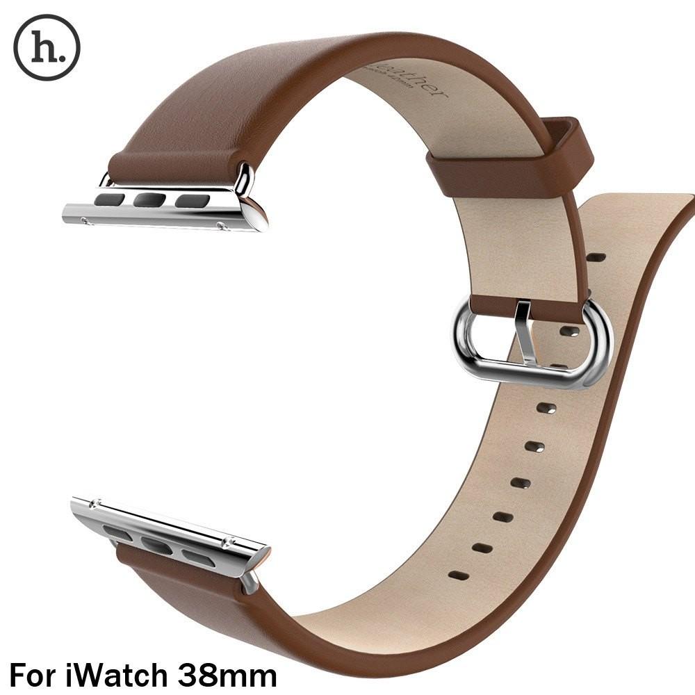 Носо классический кожаный ремешок ремешок из нержавеющей стали пряжка адаптер пояса для Apple , часы 38 мм