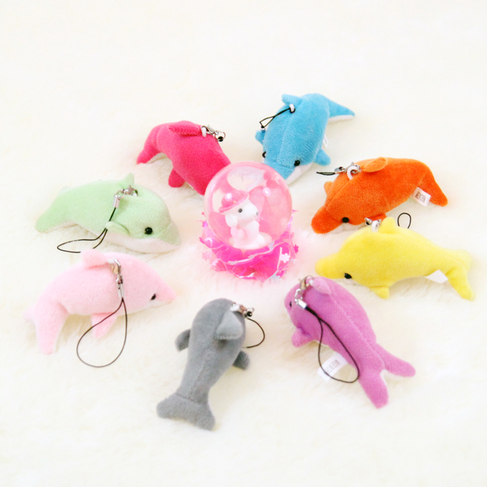 2015 New 8CM 1 PCS Dolphin Toys Cute Clever Animal Stuffed and Plush Toys Best Gifts Wholesale Price High Quality(China (Mainland))