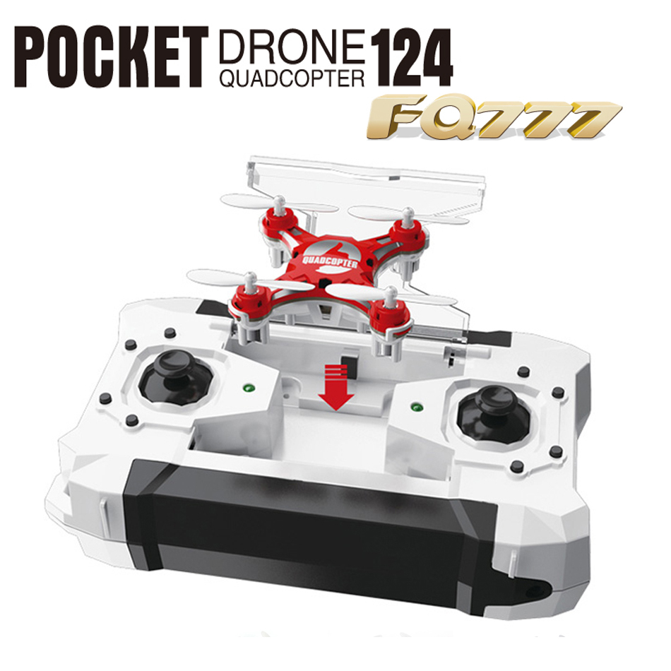 FQ777-124 FQ777 124 Micro Pocket Drone 4CH 6Axis Gyro Switchable Controller Mini quadcopter RTF RC helicopter Kids Toys(China (Mainland))