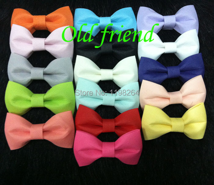 Summer Sytle 3'' Hair Chiffon Bows With Clips On Back 30pcs/lot 16 color IN STOCK Free Shipping(China (Mainland))