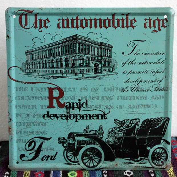 Metal Rapid development classic car signs decoration Vintage wall art decor House bar painting 20x20 CM GY-01390 Free shipping(China (Mainland))