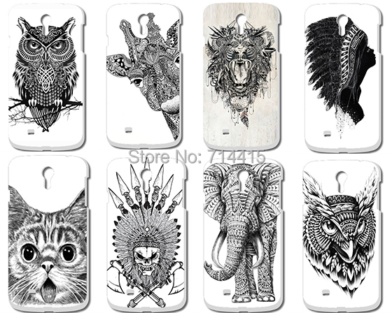 Гаджет  Cool Cartoon Black And White Animal pattern Cute Custom Printed protective back Hard Case Cover for Samsung galaxy S IV s4 i9500 None Телефоны и Телекоммуникации