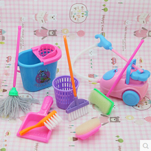 FREE SHIPPPING , dolls High-grade Cleaning Kit for Girl Barbie Dolls , Household cleaning tools for barbie dolls (1 Set=9 pcs)(China (Mainland))