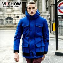 2014 Mens Winter Jacket Men's Hooded Cotton-Padded Coat Winter Thickening Outerwear Male Slim Casual Cotton-Padded Jack MC15844