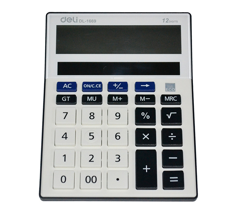 Free Shipping Lackadaisical 1669 table oversized deli solar panels digit 12 calculator(China (Mainland))