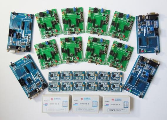 Free shipping CC1110 enterprise level wireless sensor network development board Suite (12 module +12 floor +3 simulator)(China (Mainland))