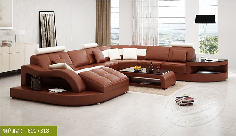 2014 new couches for living room sofa set with U shaped modern sectional sofa # 6140(China (Mainland))