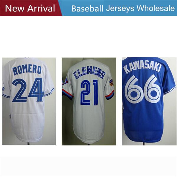 Men's Toronto Blue Jays 21 Roger Clemens #24 Ricky Romero 66 Munenori Kawasaki Embroidery Logos baseball short Jersey(China (Mainland))