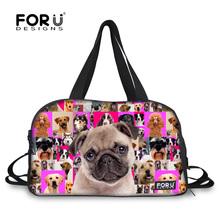 Mulitifunctional Animal Women's Travel Bag Large Capacity Female Luggage Bag Pug Dog Poodle Print Travel Duffel Bolsa Feminina(China (Mainland))
