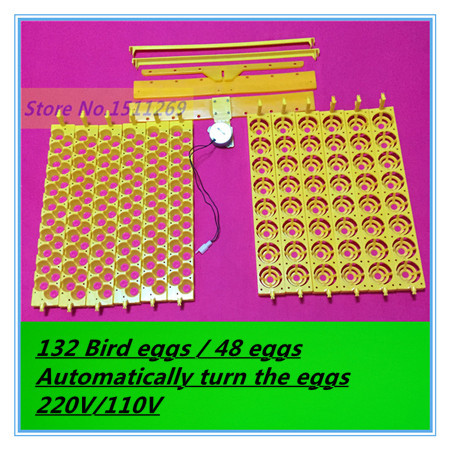 Multifunction incubator 48 eggs incubator 132 Eggs Bird incubation Automatically turn the eggs Parrot Quail Hatching