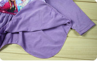к 2015 году новый дизайн 8 ~ 12 лет девочки Королева печатных одежда набор крошка Принцесса одевает платье мультфильм дети + Юбки детские Одежда наборы