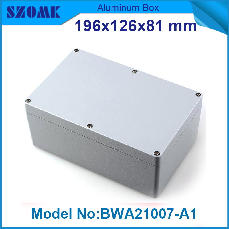 1 piece free shipping powder coating aluminium junction housing box for waterproof router case 81(H)x126(W)x196(L) mm(China (Mainland))