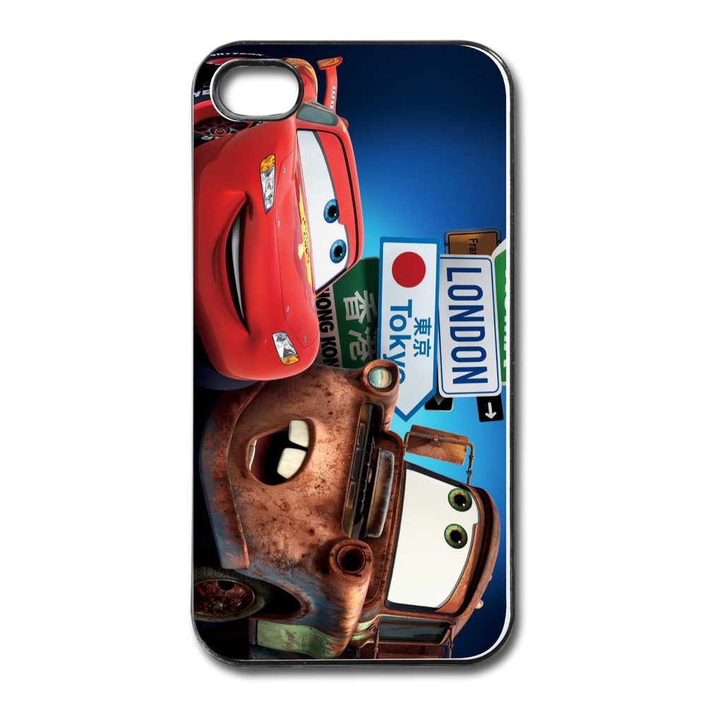 Top Brand Hard Covers Cars 2 London Tokyo Designed Case For Iphone 4s Accept Your Own Picture(China (Mainland))