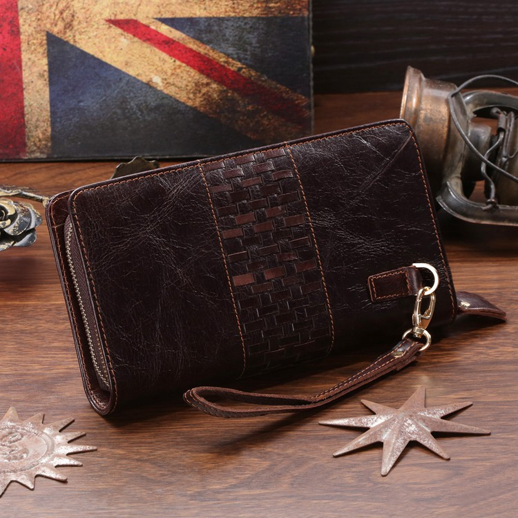 Promotion Selection Good Quality Brand Fashion Designer 100% Real Genuine Leather Men Clutches Wallet Purses Hand bag #MW-J8021<br><br>Aliexpress