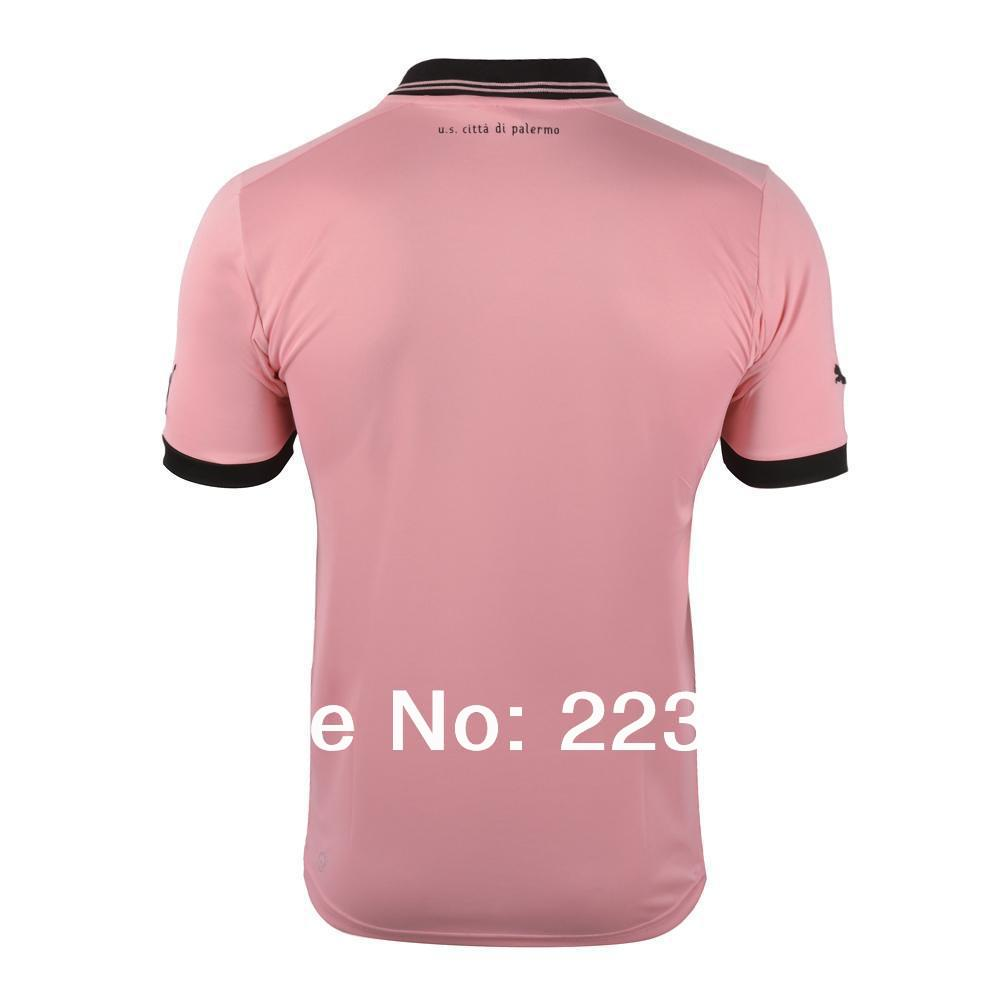 Top Thai quality 13/14 Palermo home soccer jersey 2012/2013 Palermo club pink football shirt kit uniform set(China (Mainland))