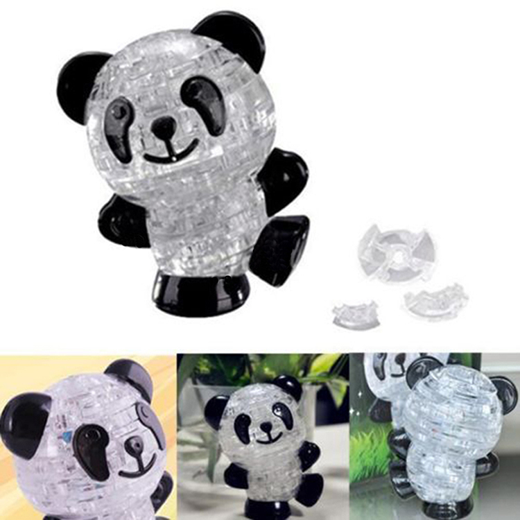 Гаджет  2015 NEW Classic Puzzles for Babies Lovely Panda Shape 3D Puzzles Practical Gift for Babies Cute Toys Creative Crystal Puzzle None Игрушки и Хобби