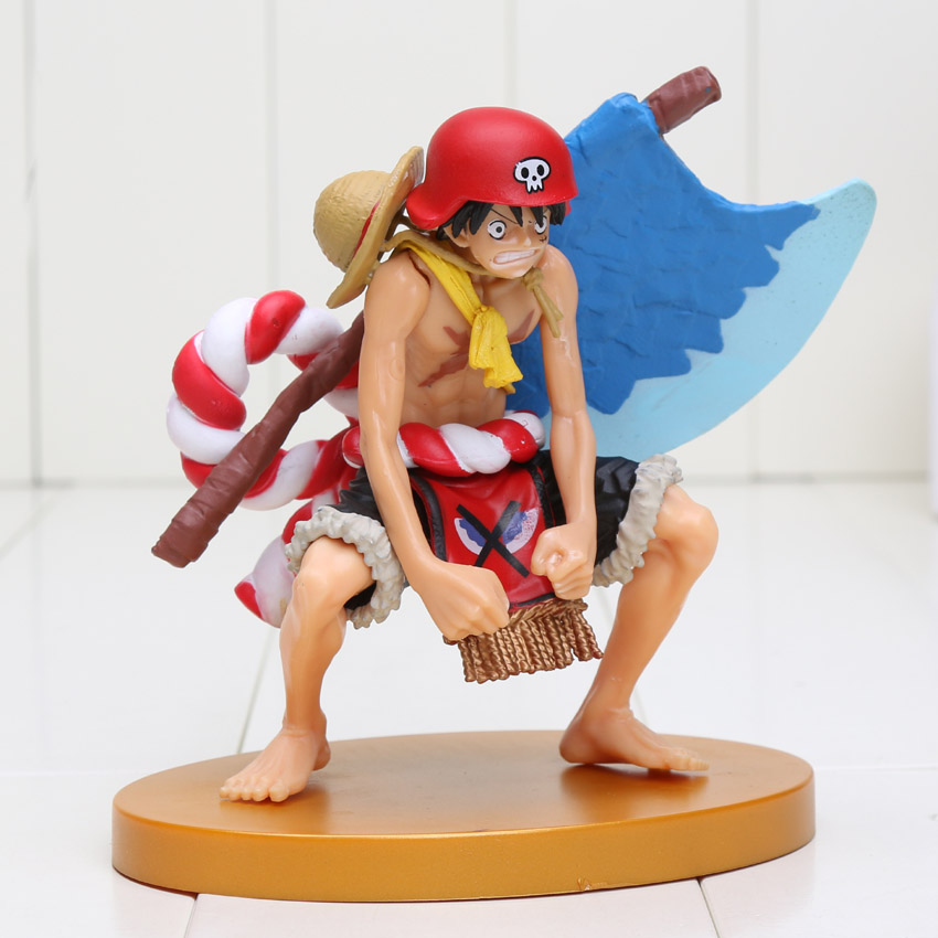 13cm Anime One Piece Film Gold Luffy Action Figure Axe Ver. Monkey D Luffy Doll PVC ACGN figure Toy Brinquedos(China (Mainland))
