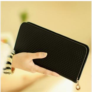 2016 Fashion Women Clutch Bag Magic Black Wallet Luxury Brand Designer Change Genuine Leather Wallets Purse For Money Card Phone(China (Mainland))