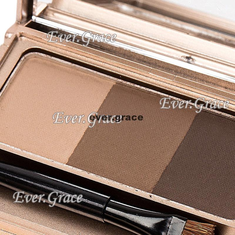 3 Colors Makeup 3D Eyebrow Carving Powder Slight Eye Brow Shadding Neutral Nude(China (Mainland))