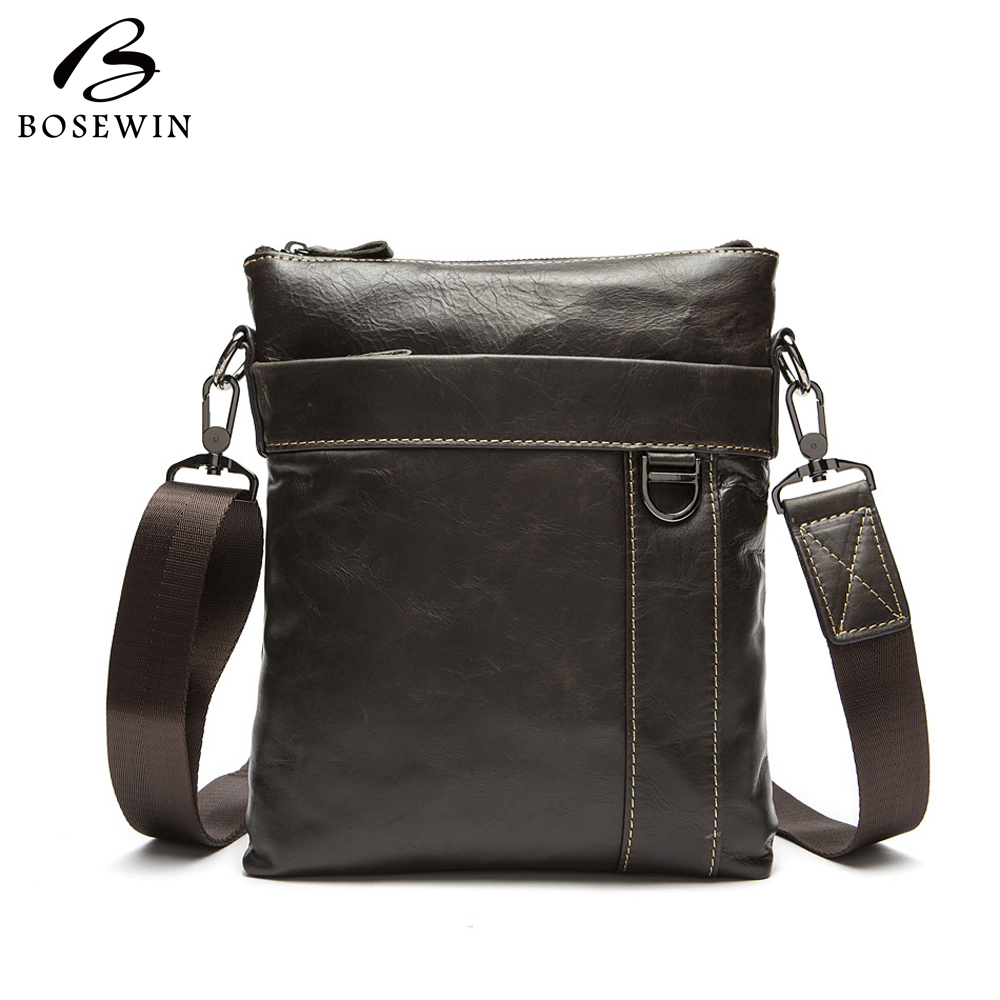 2016 New Genuine Leather Men Bag fashion men's messenger bag business bag real leather cross body bags for men Handbags(China (Mainland))