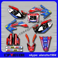 MOTORCYCLE CRF250R 2006 07 08 09 AMSOIL NUMBER 28 3M GRAPHICS BACKGROUND DECALS STICKERS KITS DIRT BIKE - CYMOTO store
