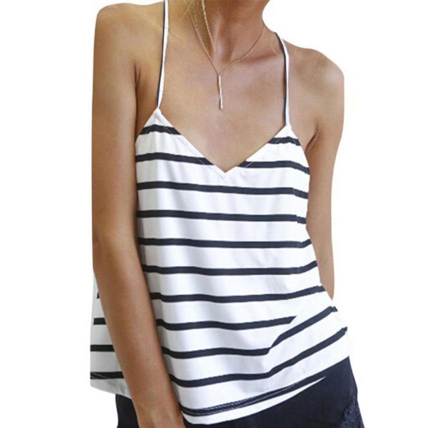 Hot marketing Sexy Women Backless T-Shirt Loose Sleeveless Blouse Striped Tank Tops Ap13(China (Mainland))