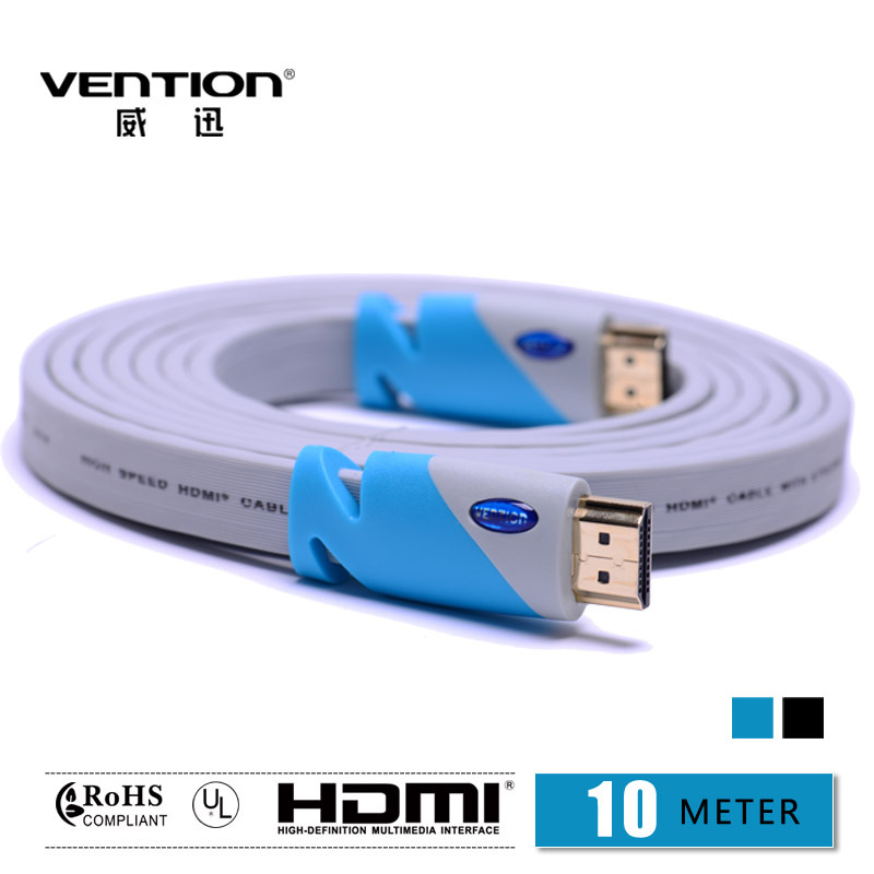 Vention! 10M High Speed HDMI Cable 19pin HDMI cable for HD-DV/TV set-top box/AV processor/DVD payer/Monitor(China (Mainland))