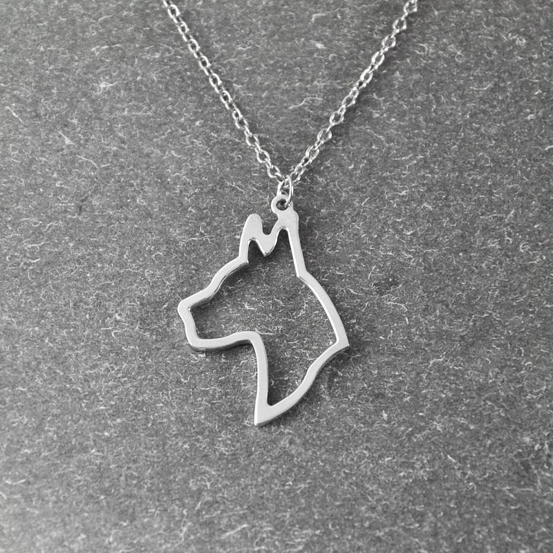great dane  necklace, great dane   pendant, animal necklace ,alloy dog necklace ,  pet memorial gift , dog pendant<br><br>Aliexpress