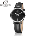 High Quality Men Simple Style Quartz Wrist Watch Black Casual Business Waterproof Leather Strap relojes hombre
