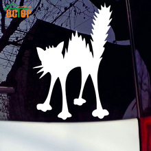 Angry Cat Silhouette Vinyl Car Truck Sticker Animal Sticker Waterproof Auto Accessorie Car Styling(China (Mainland))
