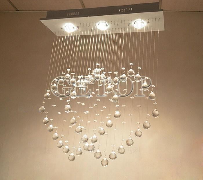 Купить В форме сердца потолочный светильник современный минималистский двойное в форме сердца кристалл ресторан бар кристалл из светодиодов огни спальня гостиная лампа
