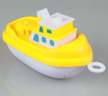 Плавать Проводки лодки дети играют в воде заводной dabbling ванна детские игрушки воды плавающий пляж игрушки высокого качества для новорожденных
