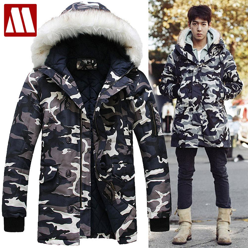 2016 Brand Camouflage Men's fur lined Winter Coats Army Jacket Fashion Casual Parka Long Thick Outerwear S - XXXL Sophia apparel (China store Co., Ltd. More quantity more discount!)