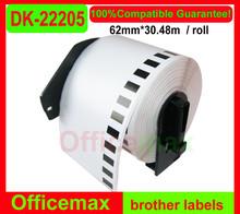 rolls DK-22205 brother compatible label Qseries 62mm*30.48m)(Free 1 piece reusable plastic)