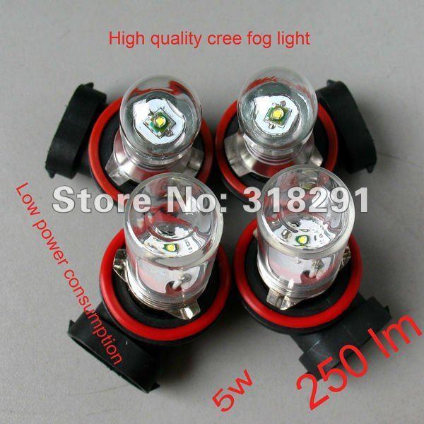 Wholesale H11 H8 9006 hb4  5W Car LED Fog Lamp Automobile Light Bulbs Wedge High power cree top