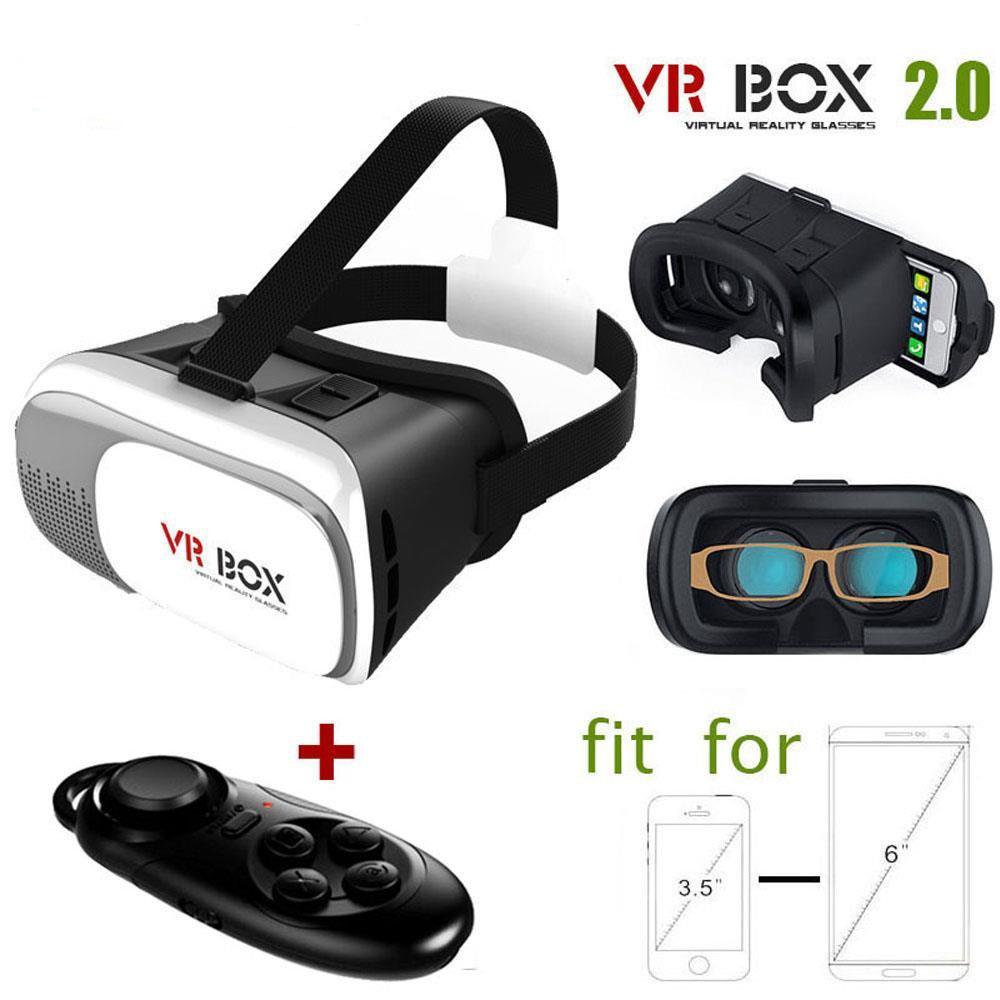 VR Box 2.0 3D Virtual Reality Google Glasses Retail Box + Gamepad Controller<br><br>Aliexpress