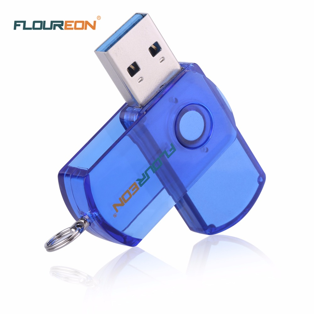 Floureon Tiny Portable USB Flash Drive With Key Ring 8GB 16GB 32GB 64GB Optional Pen Drive Blue Storage Stick Free Shipping(China (Mainland))