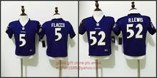 100% stitched baby Baltimore Ravens toddler 5 Joe Flacco 52 Ray Lewis Embroidery Logos size S TO L,camouflage(China (Mainland))