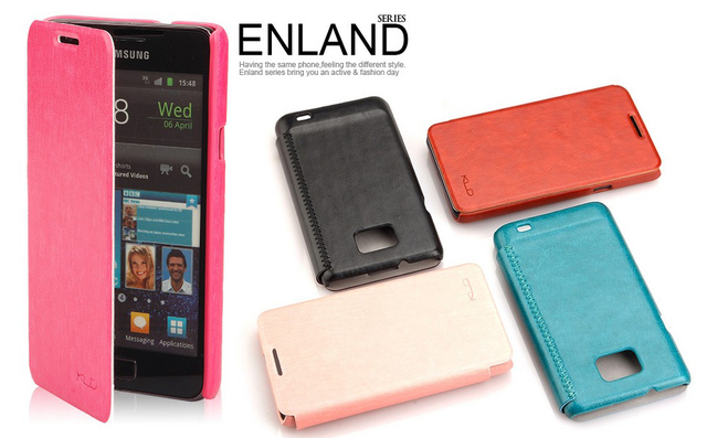 KLD EngLand Style Side Flip PU Leather Cover Case For SAMSUNG GALAXY S2 SII i9100 New in box