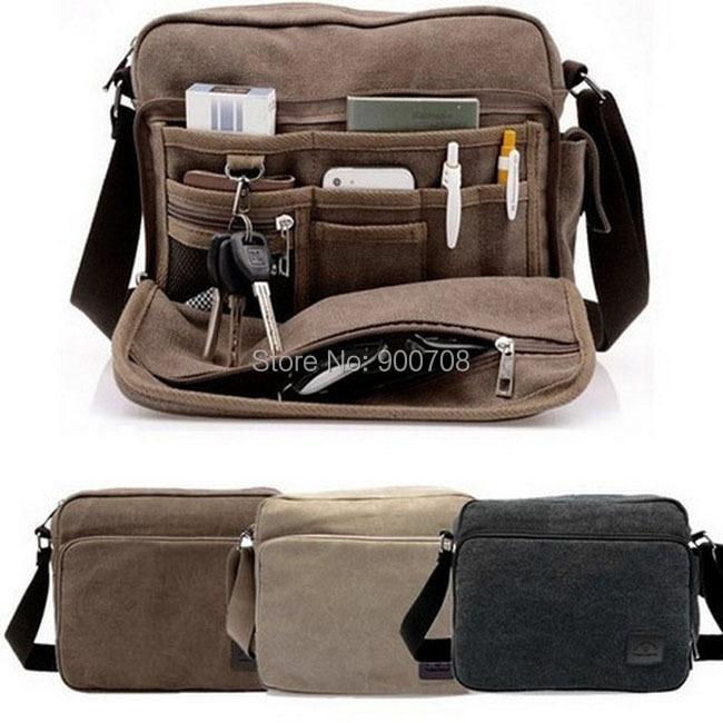 Free shipping 50pcs/lot Multifunction Men Canvas Bag Casual Travel Bolsa Masculina Men's Crossbody Shoulder Bag Messenger Bags(China (Mainland))