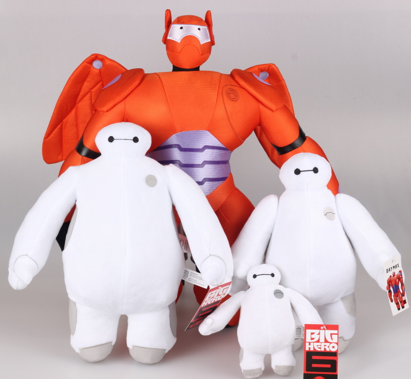 Very Hot Selling Big Hero 6 Toys Kids White Plush Toy And Red Superman Kids Toys(China (Mainland))