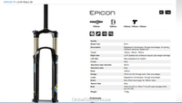 Вилка велосипедная RC SUNTOUR epicon/tr 130 140 & 150 am/mtb 26 15 q/loc r/15qlc/26 EPICON-TR